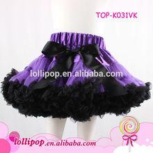 Best-selling purple with black halloween cool girl's pettiskirt