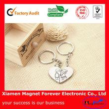 Custom Lovers heart magnetic key ring key chain