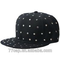 100% Acrylic Snapback Cap Custom Flat to Flip Brim Snapback Cap