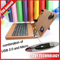 tablet pc usb keyboard 7 inch case Universal Leather Stand USB Keyboard Case Cover Multifunction