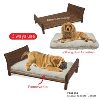 wicker rattan cat house dog bed direct supplier