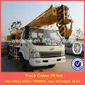 China caminhão montou o guindaste, elevador 10 ton, 26.5m altura, modelos 6 ton-12 ton