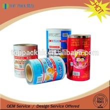 custom printing food grade material roll film automatic packaging roll film