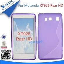 Mobile tpu soft gel case cover for motorola xt926