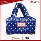 China custom cotton coated pvc shopping bag