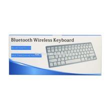 mini Silver/Black Wireless Bluetooth Keyboard Aluminum Cover