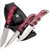 3pcs Hunting knife set in Wood Handle with Nylon Sheath