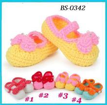 oem personalizzate a mano a maglia crochet bambino scarpa grossista