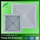 Hot sale HVAC aluminum plastic square ceiling fine air bubbles diffuser