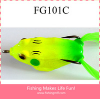 FG101C 5.5cm/13g Top Water Soft Plastic Fishing Lure Frogs!