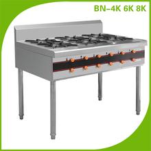 Hotel Restaurant Equipment Cooking Range With 6 Burners BN-6K