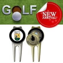 high quality zinc alloy metal custom golf divot repair tools