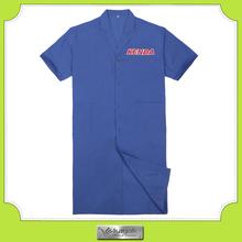 Custom navy long used work uniform shirts with embroidery logo