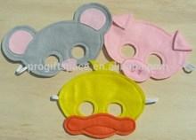 2015 new fashion hotsale cheap wholesale China handmade duck/pig/mouse fabric craft kid party decor face felt cartoon mouth mask