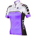 púrpura negro blanco transpirable más el tamaño de anti uv de secado rápido de la señora de manga corta de verano en bicicleta de la fábrica de prendas de vestir