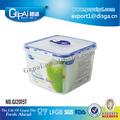 Tamaño mediano aspirador plástico contenedor con tapa para conservar la comida fresca