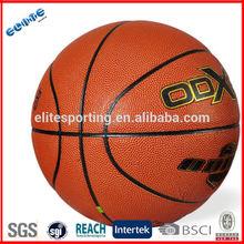 Official size high grade pu custom printed basketball for training