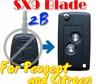 Flip Remote Key Case For Peugoet Citroen 2 Button Remote SX9 Key