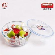 PP lid non-toxic SGS factory audit round glass vegetable crisper