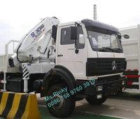 All Wheel Driving 6WD 6*6 Beiben Floading Crane Truck XCMG 12Tons Crane Cargo Truck Low Price Hot Sales
