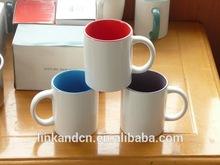 Haonai MU0153 ceramic/porcelain 11oz color inside mug bulk factory directly