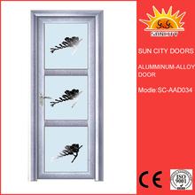 double sliding Aluminum door shower screen with luxury handles SC-AAD34