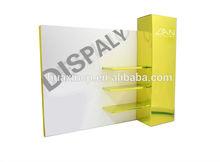 Acrylic backboard corner glass display cabinet