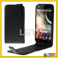 New Version Black Vertical Flip Leather Case for Wiko Highway