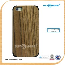 hot selling Real Wood Pattern Plastic Protective Case for iPhone 4 & 4S for iPhone 5& 5s for iPhone 5C