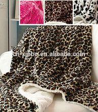 Plush Animal Print Sherpa Throw IN STOCK Plush Blanket Decor Giraffe Cow Leopard