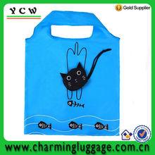 cat shape foldable nylon bag for shopping