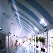 aluminum C100 linear ceiling for swimming pool