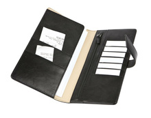 Genuine leather checkbook cover for man