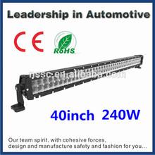 spot flood combo 43'' 42'' 40'' 240w 24v12v aluminum profile led light bar