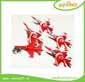 المهنية العرف الأحمر معدنية على شكل طائرة طية صدر السترة دبابيس معدنية الحرفية