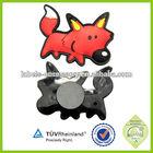 custom rubber pvc half cat fridge magnet