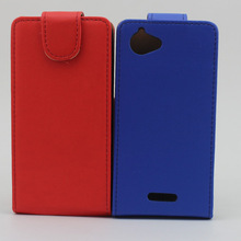 Protective flip leather case cover for sony xperia l s36h