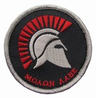 Velcro Patch MOLON LABE_moaan aabe resistance faf airsoft paintball
