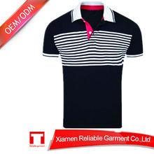 Men Sreen Printing camisas polo men with stripe in trend