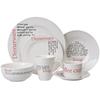 Plain white porcelain dinnerware set