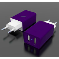 17W / 3.4A Dual-Port USB Wall Charger / Portable Travel Charger - Simultaneous, full-speed charging