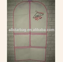 customized garment suit cover bag,pp suit cover,suit cover non woven