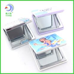 unique purse size craft square mirror