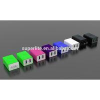 2-Port USB Home Wall Travel AC Charger International Power Adapter US/EU/UK/AU