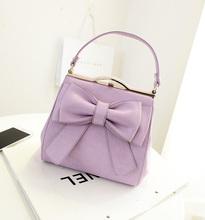 2014 Designer bowknot cute bag Satchel Shoudler bag long shoulder stripe wholesale baigou bag Made in china