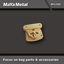 """best seller 1 1/2"""" turn lock closures for handbag in gold plated finished wholesale MYL7028"""