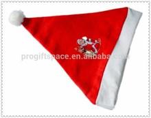 2015 new design fashion hotsale unique China product handmade wholesale decor craft wool felt ornament Christmas plush santa hat