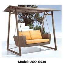 Rain Weather Swing Chair Outdoor Patio Furniture Wicker Garden Iron Frame
