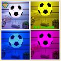 decorativos de interior de la noche de luz led de colores de la lámpara de fútbol