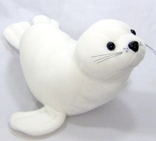 Carrefour supplier made in china stuffed animals from china white soft toy seal
